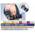 ORTESIS CODO C/FERULA PALMAR-PULGAR Y CONTROL FLEXO EXT.  (DRCHA)  ORLIMAN REF. 94302D