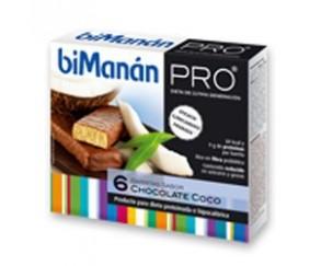 BIMANAN PRO Barrita Choco Coco 6 uds
