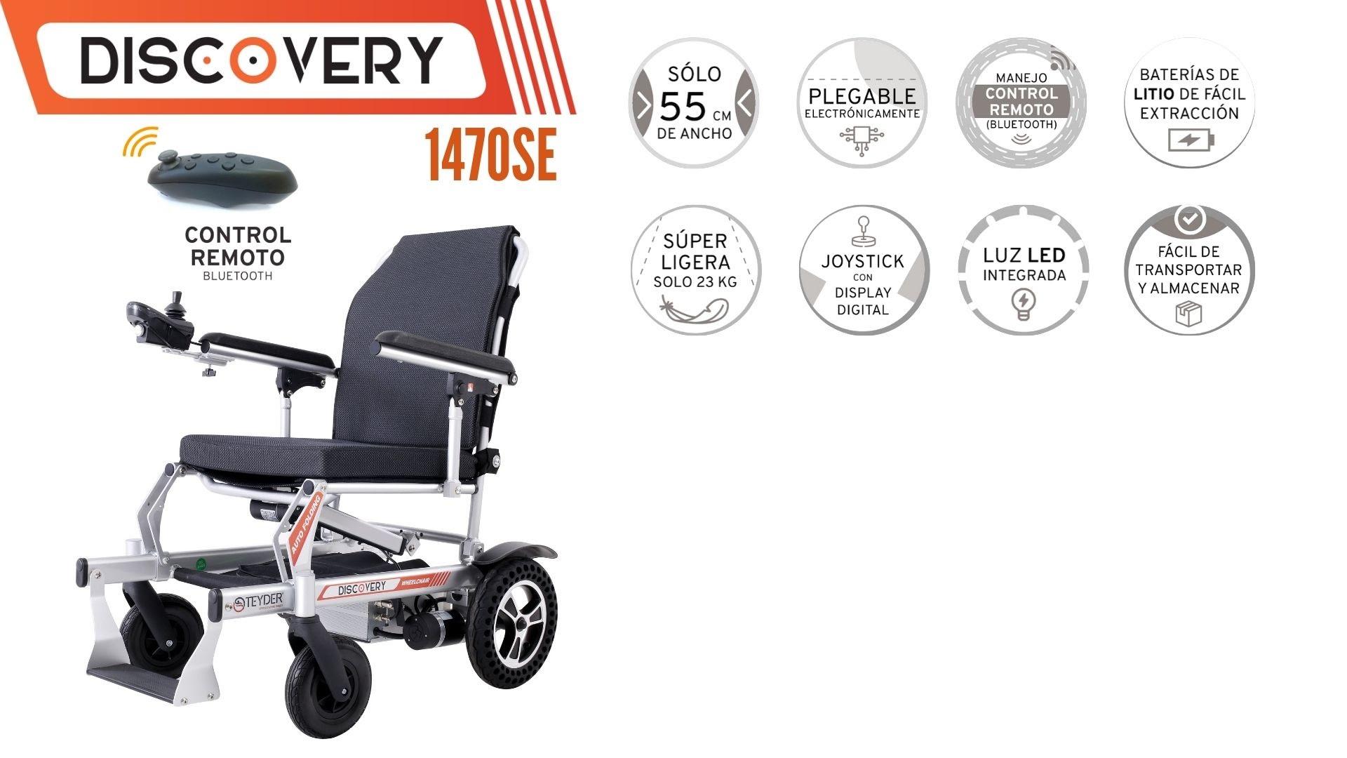 Silla de ruedas electrica plegable con mando a distancia Discovery_features